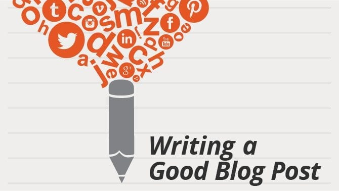 how to write a good blog post