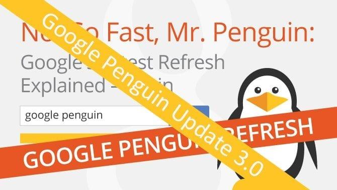google penguin update 3.0