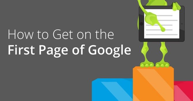 how to get on the first page of google