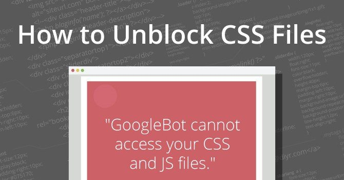 Unblock GoogleBot