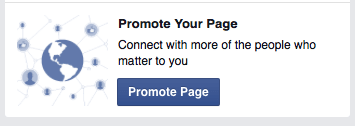Facebook promote your page