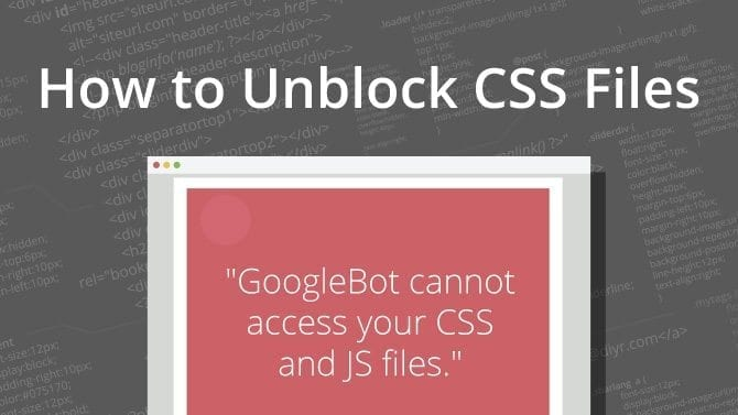 Unblock CSS files