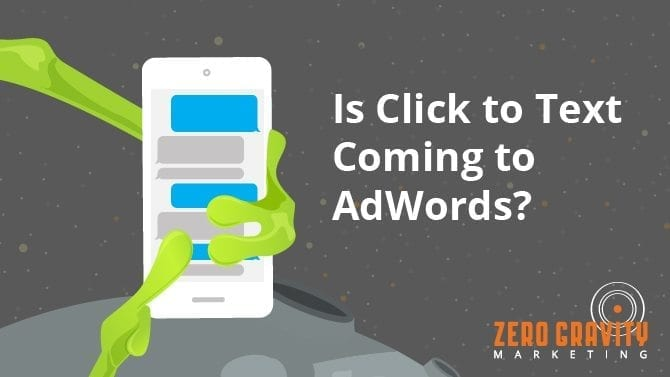 click to text in adwords