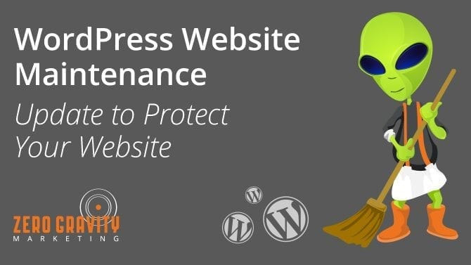 wordpress website maintenance - wordpress updates