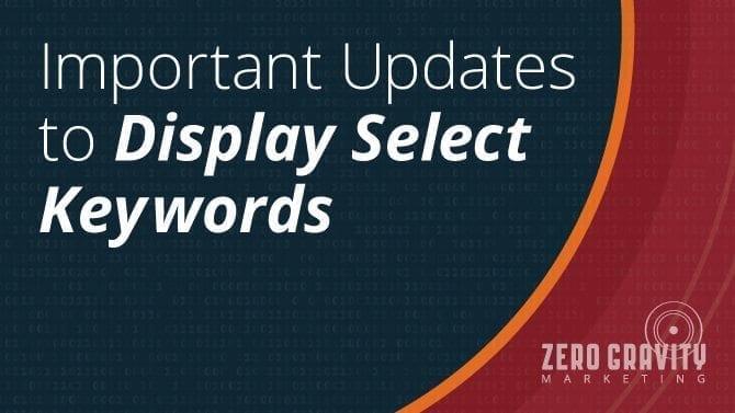 display select keywords