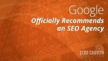 google recommends seo agency