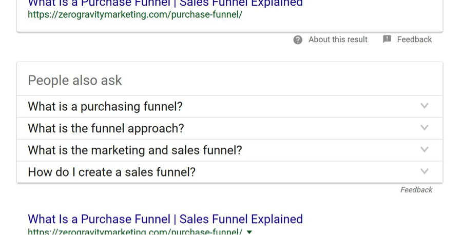 People Also Ask in Google