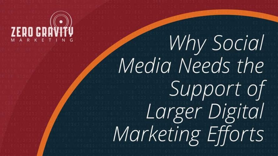 Why Social Media Needs the Support of Larger Digital Marketing Efforts