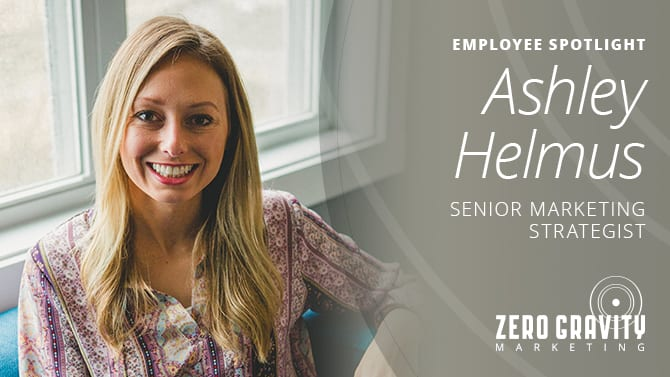 Ashley Helmus, Senior Marketing Specialist